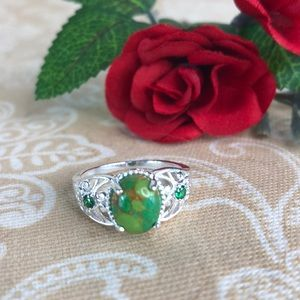 Kaki Jo's Closet Jewelry - Mojave Green Turquoise Sterling Silver Ring